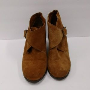 Lucky Brand Wedge Suede Ankle Booties Size 7